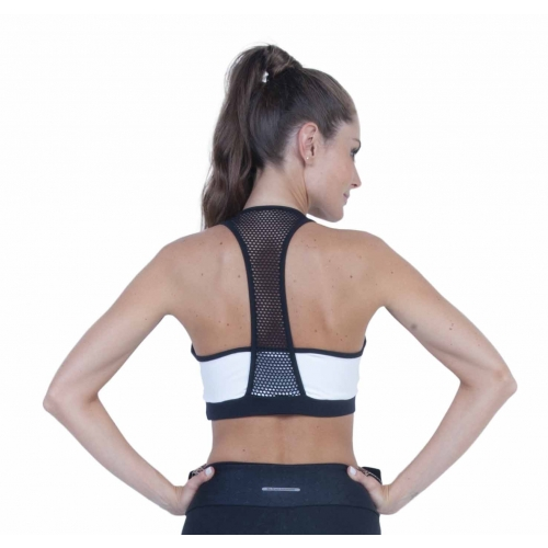 Bia Brazil Black & White Mesh Racerback Short Top