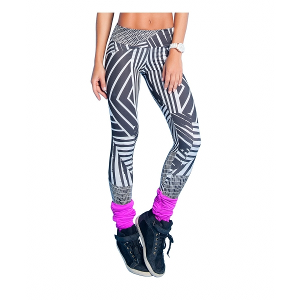 Bia Brazil Black & White 'Zip Zag' Leggings