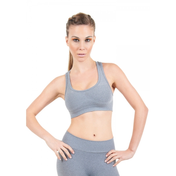 Bia Brazil Waist Bra Top-Grey Metal